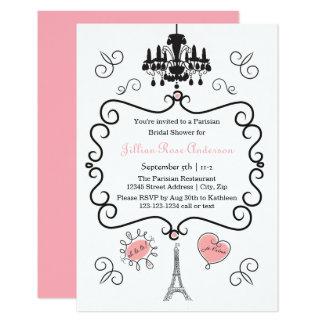 Pariser Themed - Einladung des Brautparty-3x5