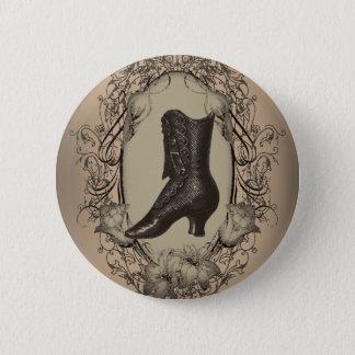 Pariser Vintager viktorianischer Schuh retro Runder Button 5,1 Cm