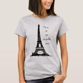 """Parisienne """"keine Bedauern """" T-Shirt"""