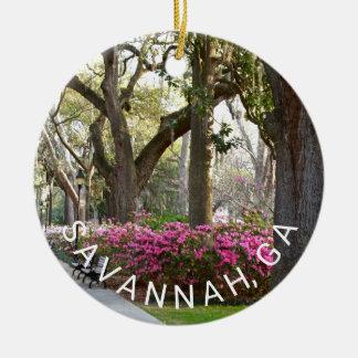 Park-Azaleen-Liveeichen-Moos der Savanne-GA Keramik Ornament