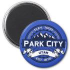 Park- Cityfarblogo-Magnet Runder Magnet 5,7 Cm