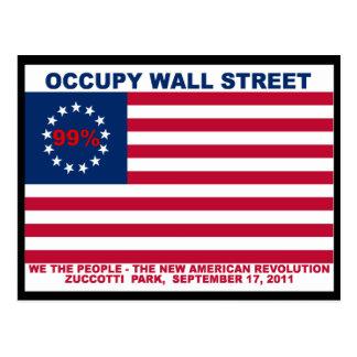 Park des Occupy Wall Street-99% Zuccotti Postkarte
