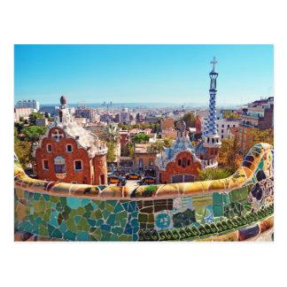 Park Guell, Barcelona - Spanien Postkarte
