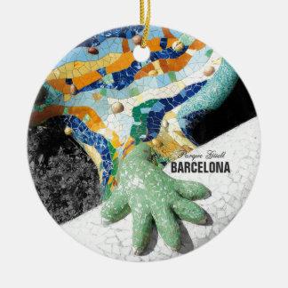 Park Guell Barcelonas Gaudi Keramik Ornament