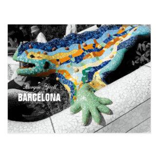 Park Guell Barcelonas Gaudi Postkarte