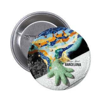 Park Guell Barcelonas Gaudi Runder Button 5,7 Cm