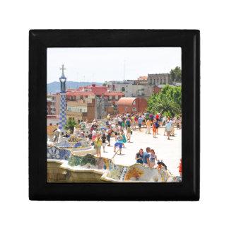 Park Guell in Barcelona, Spanien Erinnerungskiste