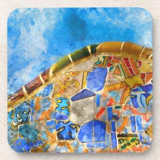 Park Guell in Barcelona Spanien Getränkeuntersetzer
