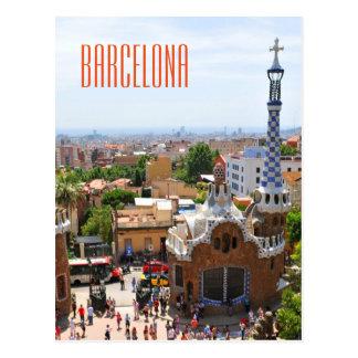 Park Guell in Barcelona, Spanien Postkarte