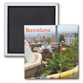 Park Guell in Barcelona, Spanien Quadratischer Magnet