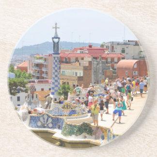 Park Guell in Barcelona, Spanien Sandstein Untersetzer