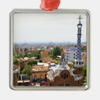 Park Guell in Barcelona, Spanien Silbernes Ornament