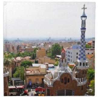 Park Guell in Barcelona, Spanien Stoffserviette