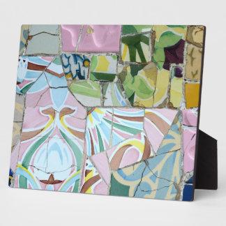 Park Guell Mosaiken Fotoplatte