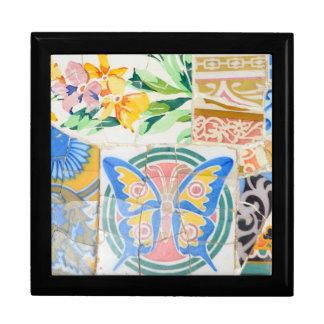 Park Guell Mosaiken giftbox Schmuckschachtel