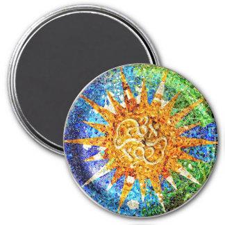 Park Guell Mosaiken Magnet