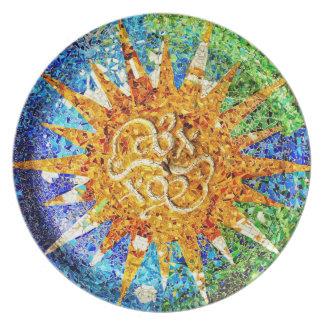 Park Guell Mosaiken Platte Teller