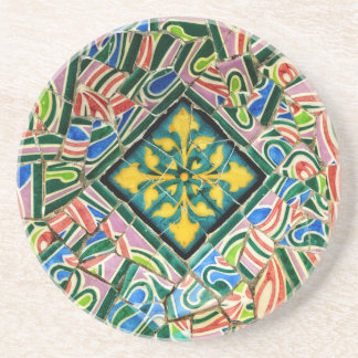 Park Guell Mosaiken Sandstein Untersetzer