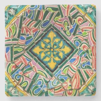 Park Guell Mosaiken Steinuntersetzer