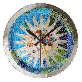 Park Guell Mosaiken Wanduhr