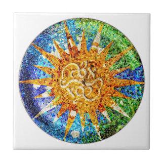 Park Guell Mosaikfliese Kleine Quadratische Fliese