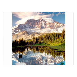 Park mystisches Tarn regnerischer Postkarte