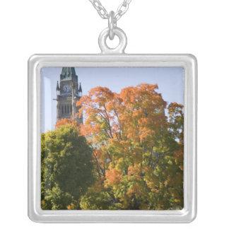 Park neben dem Parlaments-Gebäude in Ottawa, Versilberte Kette