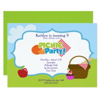 Park-Picknick-Party 12,7 X 17,8 Cm Einladungskarte