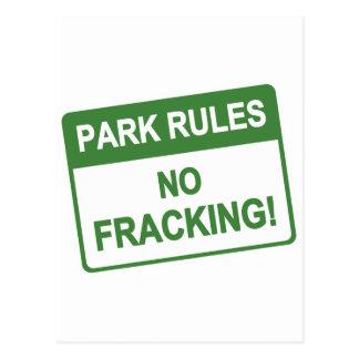 Park-Regeln - kein Fracking Postkarte