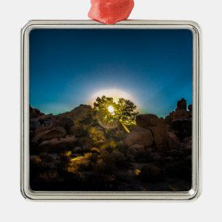 Park Sonnenaufgang-Joshuas TreeNational Silbernes Ornament