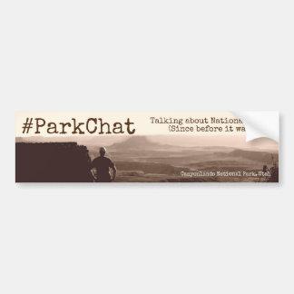#ParkChat Twitter-Autoaufkleber Canyonlands Autoaufkleber