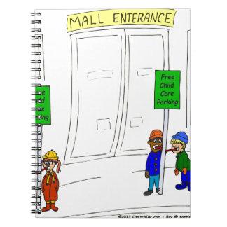 Parken der Kinderbetreuung x09 am Mall-Cartoon Spiral Notizblock