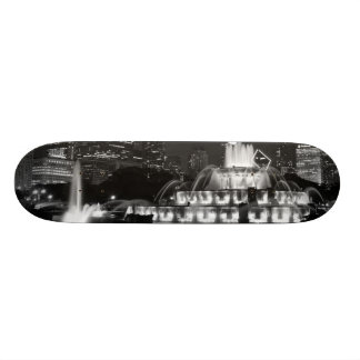 ParkGrayscale Chicagos Grant Bedrucktes Skateboard