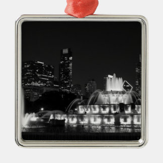 ParkGrayscale Chicagos Grant Silbernes Ornament
