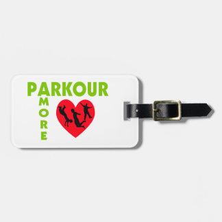 Parkour Amore mit Herzen Gepäckanhänger
