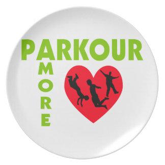 Parkour Amore mit Herzen Melaminteller