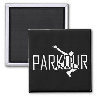 Parkour Magnet - kundengebundene Hintergrundfarbe Quadratischer Magnet