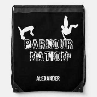 Parkour Nationsgurt-Sackrucksack Turnbeutel