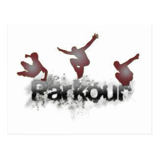 Parkour Postkarte