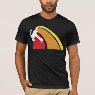 parkour zeichnet warme Farben T-Shirt
