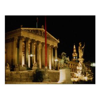 Parlament, gegenwärtiger Schritt Wiens, Postkarte