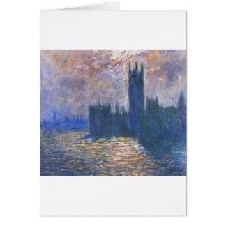 Parlament, Reflexionen auf der Themse Claude Monet Karte