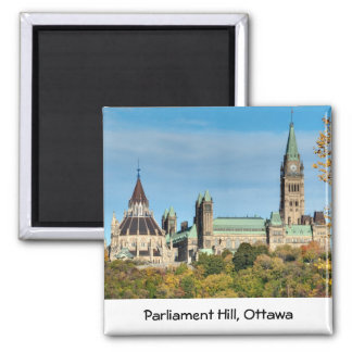 Parlaments-Hügel im Herbst, Ottawa Quadratischer Magnet