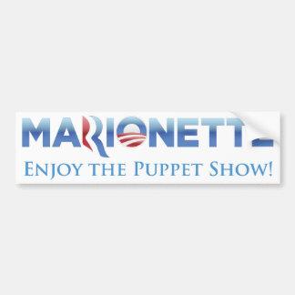 Parodie-Autoaufkleber der Marionetten-2012 Autoaufkleber