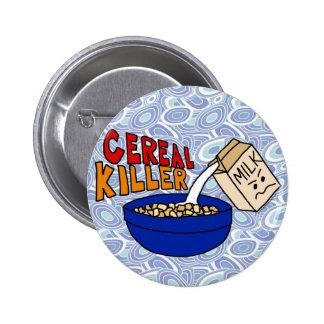 Parodie-Getreide-Mörder-Frühstücks-NahrungsmittelS Buttons