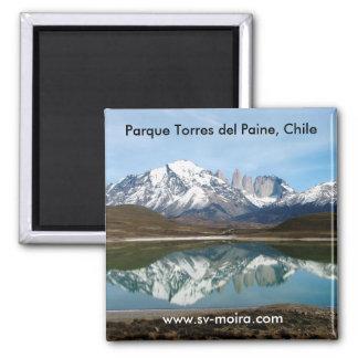 Parque Torres Del Paine, Chile Quadratischer Magnet