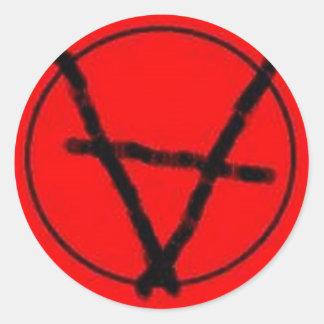 Partei-Anarchie-Aufkleber Runder Aufkleber