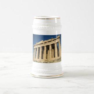 Parthenon-Akropolis in Athen Bierglas