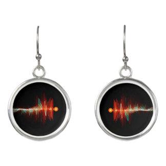 Partikel-Welle Dualität Ohrringe