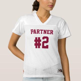 Partner #2 zusammen seit | Fußball-Jersey-Shirt Frauen Football Trikot